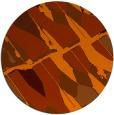 rug #726537 | round red-orange graphic rug