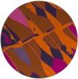 rug #726545 | round red-orange graphic rug