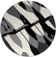 rug #726553 | round white abstract rug