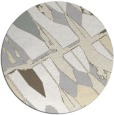 rug #726565 | round white abstract rug