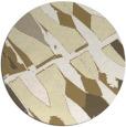 rug #726573 | round yellow abstract rug
