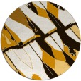 rug #726577 | round brown abstract rug