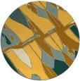 rug #726585 | round yellow abstract rug