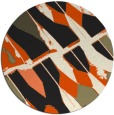 rug #726589 | round black abstract rug