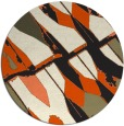 rug #726590 | round abstract rug