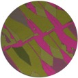 rug #726609 | round light-green graphic rug