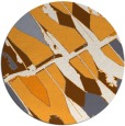 rug #726629 | round white abstract rug
