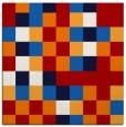 rug #727225 | square red retro rug
