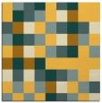 rug #727289 | square yellow retro rug