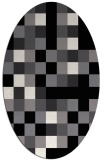 rug #727341 | oval white geometry rug