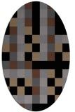 rug #727345 | oval black graphic rug