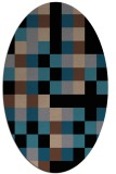 rug #727353   oval brown retro rug