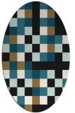 rug #727357   oval brown retro rug
