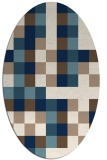 rug #727361 | oval white graphic rug