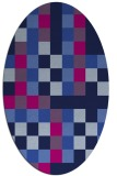 rug #727365 | oval pink popular rug