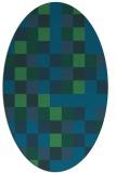 rug #727417 | oval blue-green rug