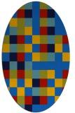 rug #727505 | oval blue rug