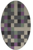 rug #727517 | oval beige geometry rug