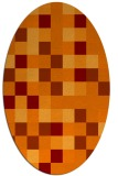 rug #727525 | oval red-orange geometry rug