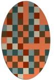 rug #727533 | oval orange rug
