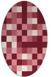 rug #727549   oval pink graphic rug