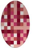rug #727557 | oval white geometry rug