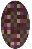rug #727561   oval purple graphic rug