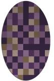 rug #727569   oval purple graphic rug