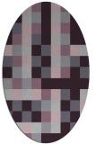 rug #727573 | oval purple graphic rug