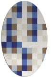 rug #727617 | oval white graphic rug