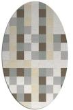 rug #727621 | oval beige rug