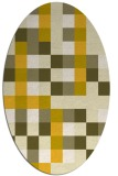 rug #727625 | oval graphic rug