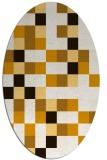 rug #727633 | oval brown retro rug