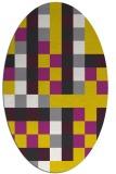 rug #727637 | oval yellow retro rug
