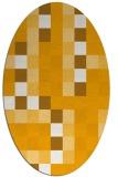 rug #727673   oval light-orange retro rug