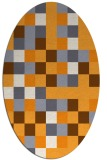 rug #727685 | oval light-orange retro rug