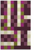 rug #727917 |  purple retro rug