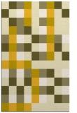 rug #727977    yellow graphic rug