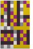 rug #727989    yellow graphic rug