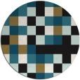 rug #728061   round brown retro rug