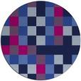 rug #728069 | round pink retro rug