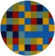 rug #728209 | round blue rug