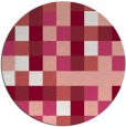 rug #728261 | round pink retro rug