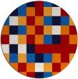 rug #728281 | round red popular rug