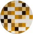 rug #728337 | round brown retro rug