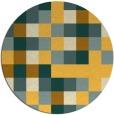 rug #728345 | round yellow retro rug