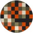 rug #728349 | round black retro rug