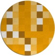 rug #728377   round light-orange rug