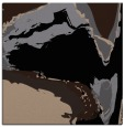 rug #728757 | square black abstract rug