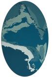 rug #729150 | oval abstract rug
